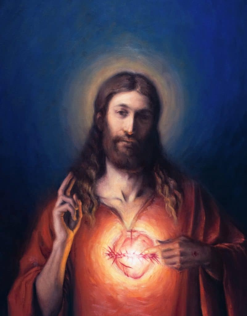 Robert Puschautz, Sacred Heart of Jesus, 36x28in