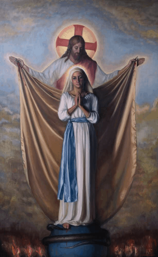 Robert Puschautz, The Immaculate Conception, 72x48in